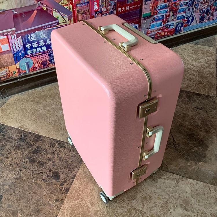 ❦♠✳รถเข็นส่งออก กระเป๋าเดินทางใบเล็ก สไตล์ญี่ปุ่น ใบเล็ก 20 นิ้ว หนังลายสุทธิ สีแดง กล่องเช็คอินรหัสผ่านกระเป๋าเดินทาง 2