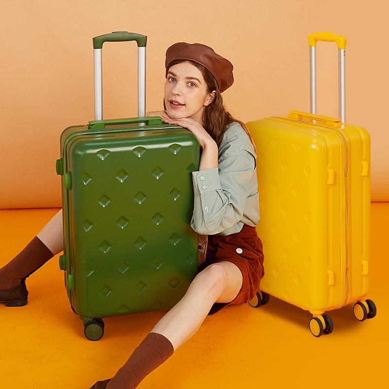 กระเป๋าเดินทางล้อลาก CODกระเป๋าเดินทางผู้หญิงใบเล็ก20-นิ้วinsสุทธิสีแดงไฟใหม่24รถเข็นกระเป๋าเดินทางรหัสกล่องขึ้นเครื่อง2