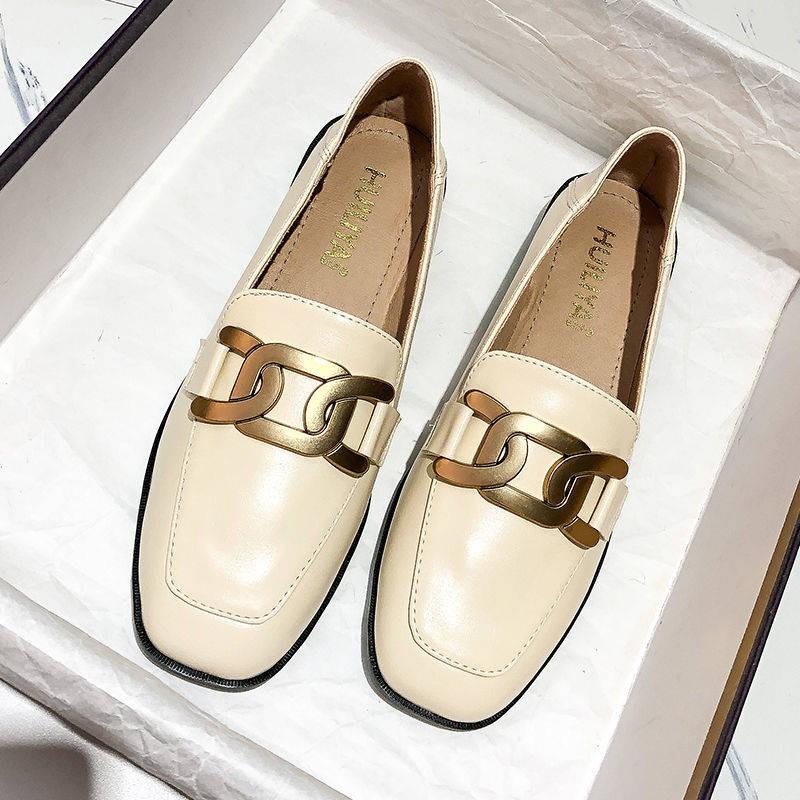 ร้องเท้า รองเท้าผู้หญิง รองเท้าคัชชู ☜รองเท้าเด็ก 2021 ใหม่ย้อนยุคอังกฤษลม, หนึ่งเท้าขี้เกียจ, รองเท้าเพลง, รองเท้า, รอง