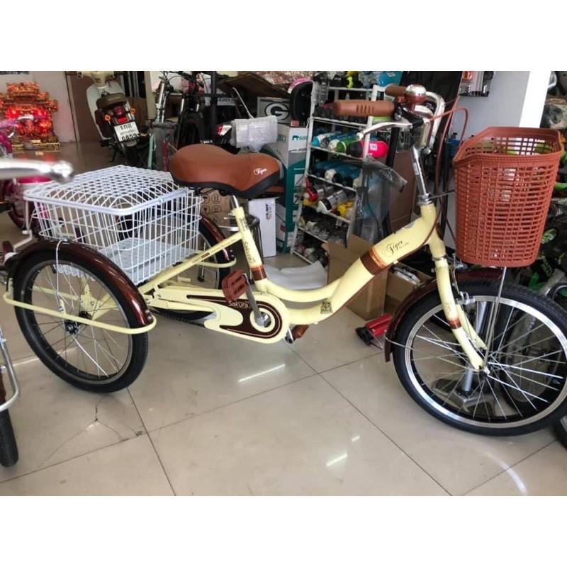 (จัดส่งเป็นคันพร้อมใช้งาน) จักรยาน3ล้อ จักรยานสามล้อ Tiger Sakura20นิ้ว ไม่มีเกียร์