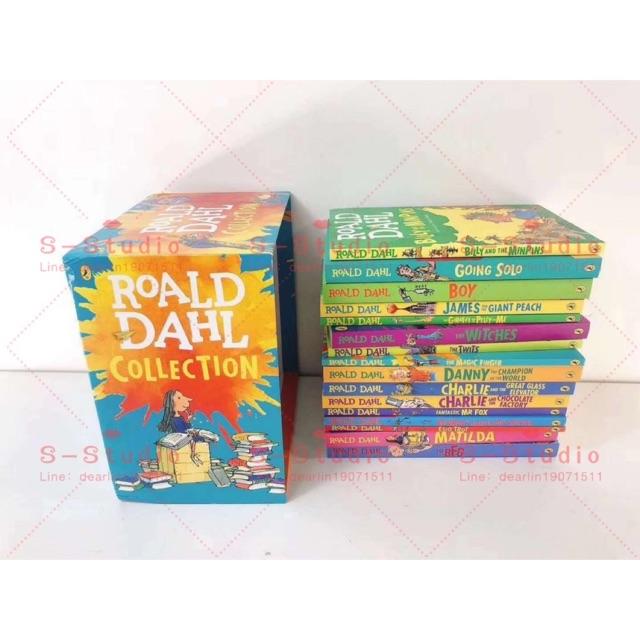 ภาษาอังกฤษสำหรับเด็ก (Free AUDIO) Roald Dahl Collection - 16 Paperback Book Boxed Setหนังสือภาษาอังกฤษสําหรับเด็ก 16ชุด