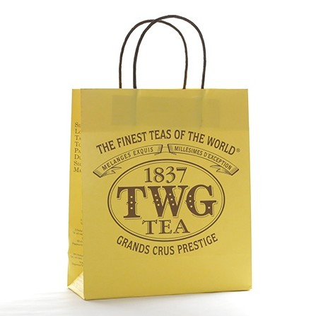 🌈👜 ถุงกระดาษ TWG Tea ขนาด 21x18x8 cm สภาพ 99% ค่ะ