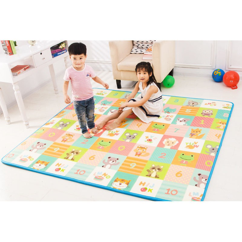 1CM Waterproof Soft XPE Baby Care Play Mat Children Safe Hygienic Portable  Pad
