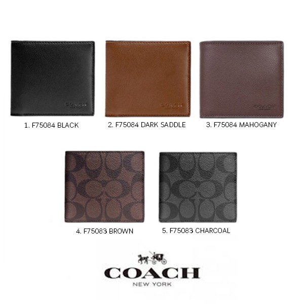 e606688605ca COACH F74991 COMPACT ID WALLET IN SPORT CALF LEATHER (CWH)  MCF74991CWH