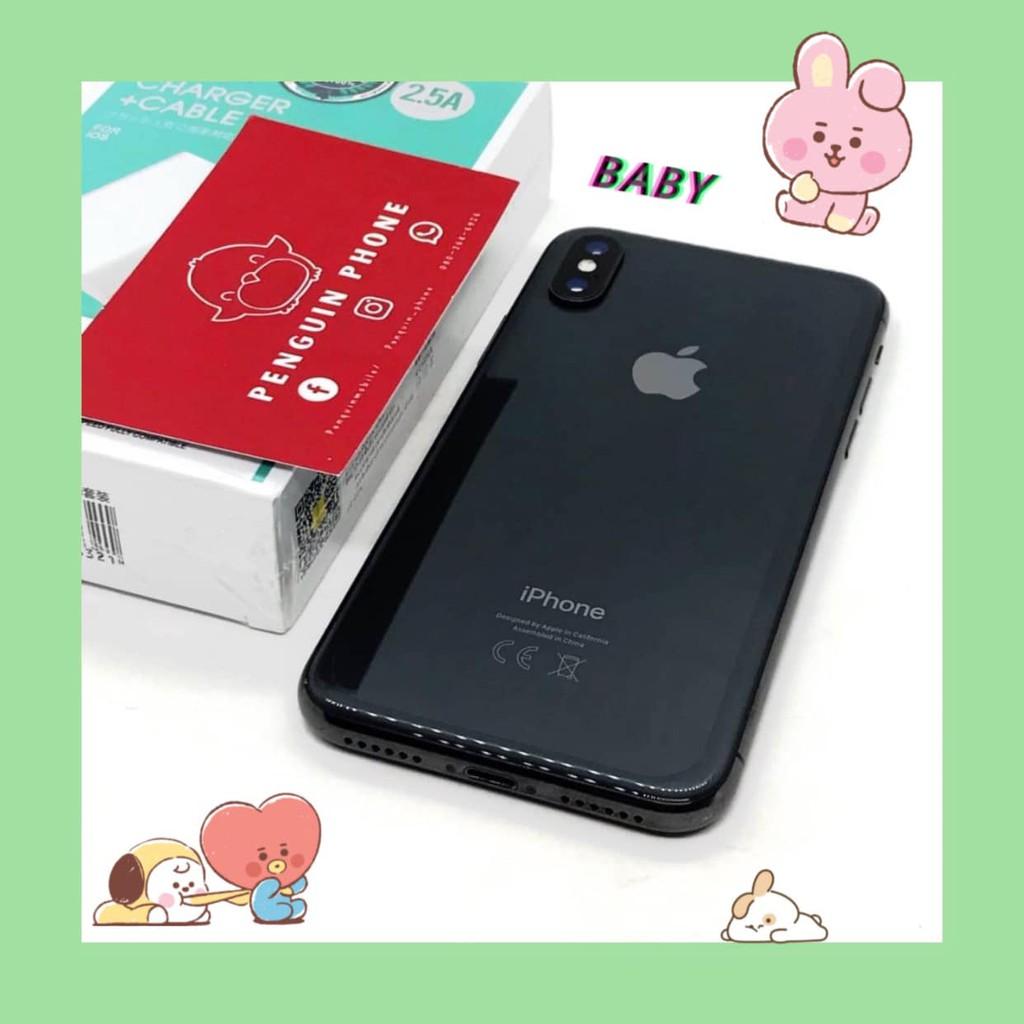 iPhone X 256GB สี Space Gray มือสอง สภาพ 97% [ไอโฟนมือสอง iPhoneมือสอง ไอโฟนมือ2 ไอโฟนราคาถูก โทรศัพท์มือสอง] Cnpw