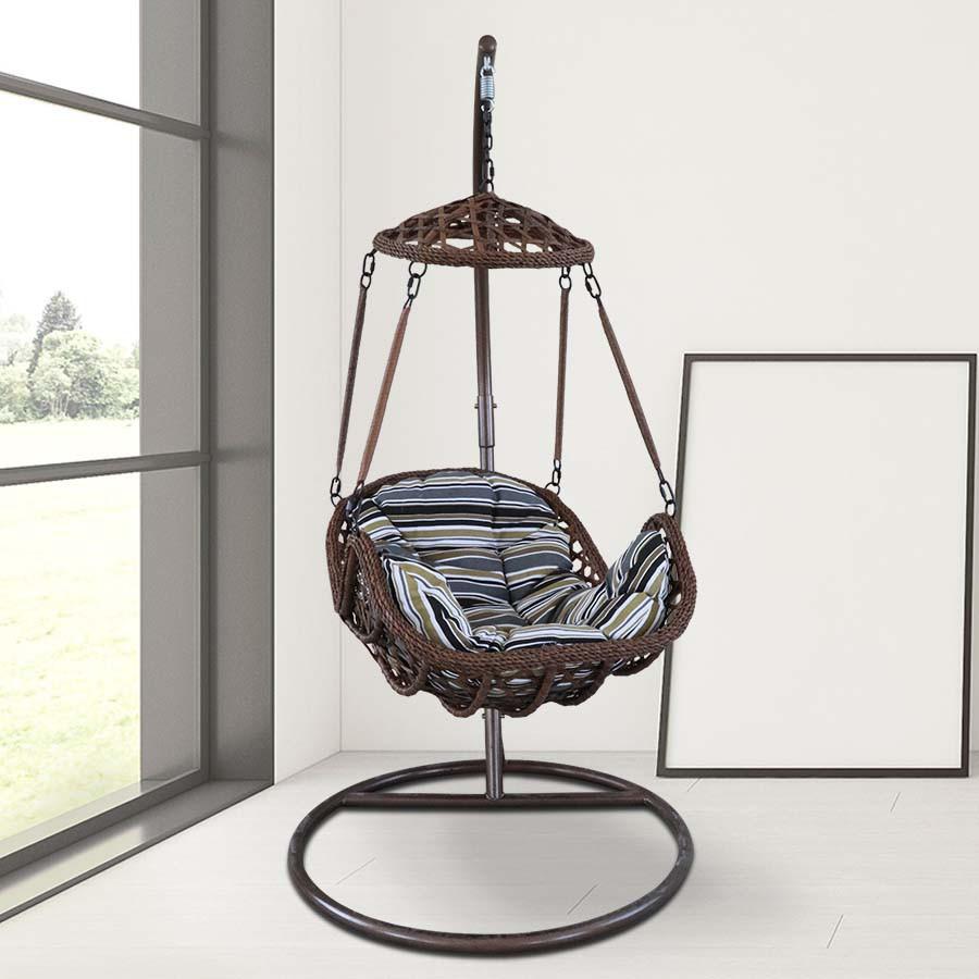เก้าอี้รังนก เก้าอี้แขวน โซฟาแขวน เก้าอี้พักผ่อน ชิงช้ารังนก ชิงช้า กระเช้าชิงช้ารังนก พร้อมชุดเบาะวัสดุ PE shoppingmart