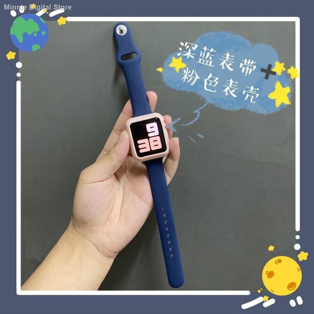 【อุปกรณ์เสริมของ applewatch】✎✲ปรับให้เข้ากับสาย Applewatch เอวเล็กสายรัด iwatch ซิลิโคนรุ่น SE6 / 5/4/3/2 รุ่น Candy