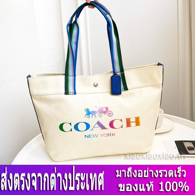 กระเป๋าผู้หญิง Coach แท้ F91170 กระเป๋าสะพายข้างผู้หญิง / กระเป๋าช้อปปิ้งผ้าใบ / Shopping Bag / กระเป๋าถือ / กระเป๋าforever young