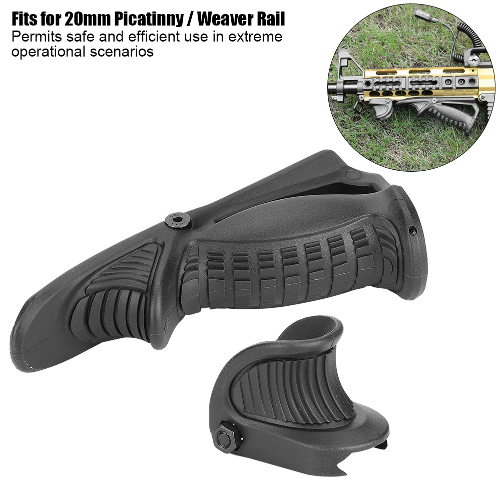 New Rifle Tactical Ergonomic Forward Point Angled Fore Grip Thumb Lock Hand Stop