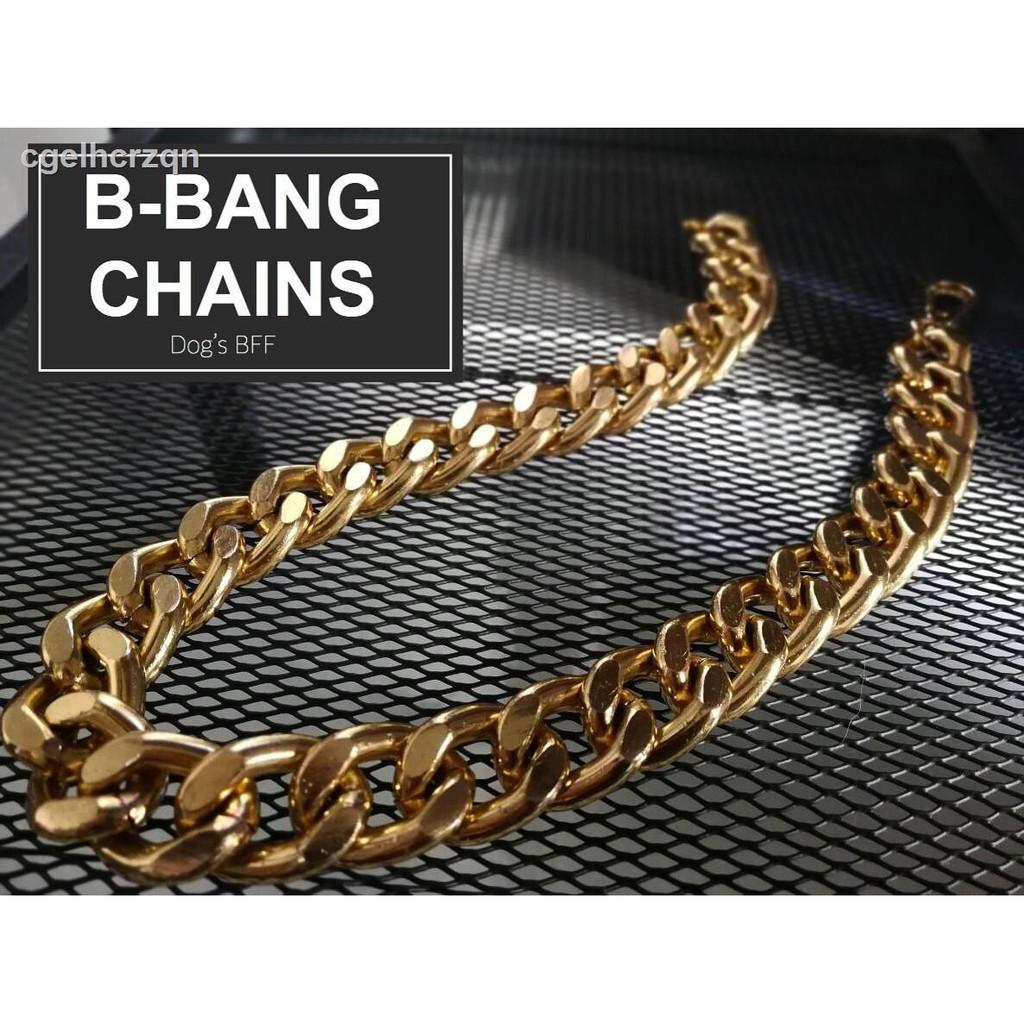 🔥มีของพร้อมส่ง🔥ลดราคา🔥☊✣สร้อยคอสร้อยคอเชือกผูกรองเท้า B-Bang สีทอง
