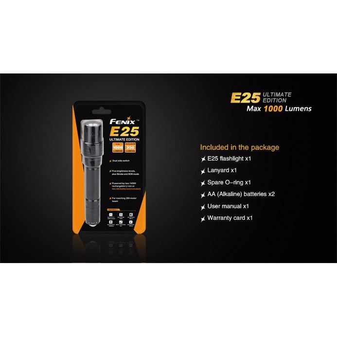 ไฟฉาย Fenix E25 UE สินค้าตัวแทนในไทยมีประกัน  3 ปี