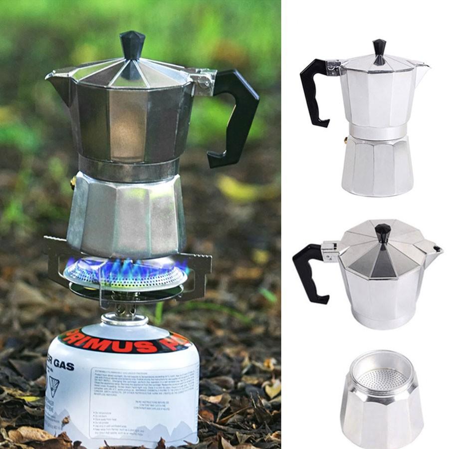 หม้อต้มกาแฟสด เครื่องชงกาแฟ มอคค่า กาต้มกาแฟสด เครื่องชงกาแฟสด เครื่องทำกาแฟ แบบป เครื่องชงกาแฟพกพา