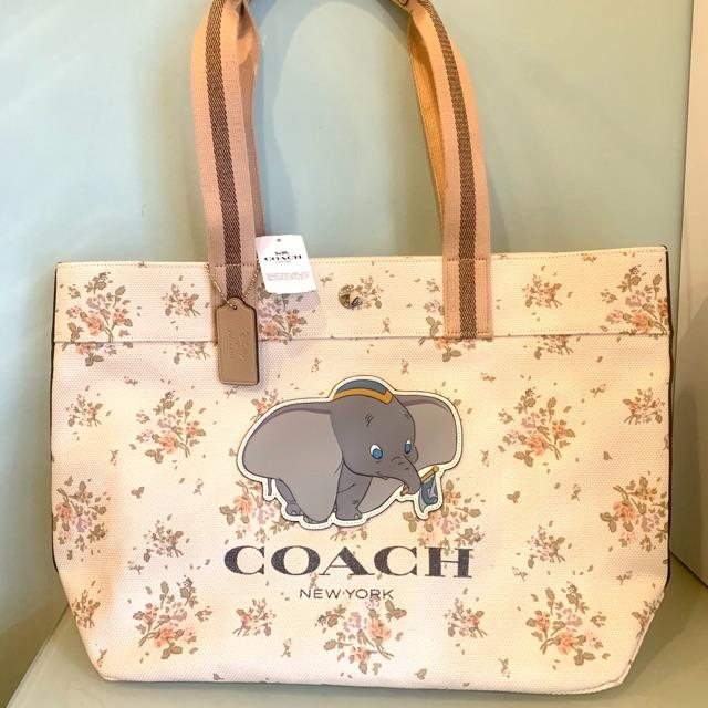 กระเป๋า tote ผ้าแคนวาส coach ช้างดัมโบ้
