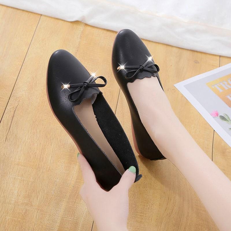 รองเท้าผู้หญิง รองเท้าคัชชู ร้องเท้า ✺หนังเอ็นเนื้อนุ่ม 2021 สี่ฤดูกาลรองเท้าใหม่, เด็ก, เท้า, รองเท้าแบน, รองเท้าปากตื้