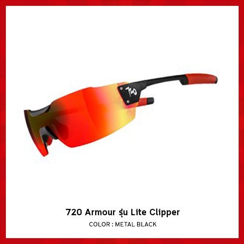 แว่นตาจักรยาน 720 Armour รุ่น Lite Clipper สี Metal Black