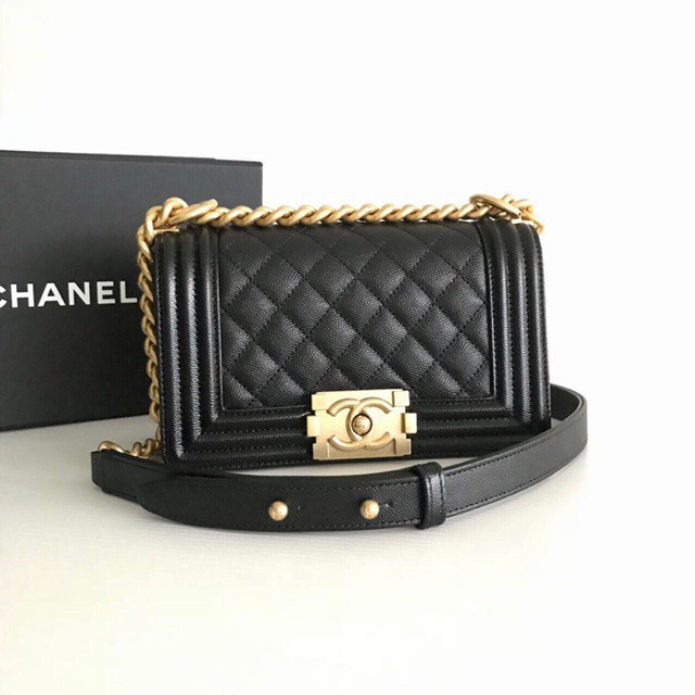 New Chanel boy8 GHW full set