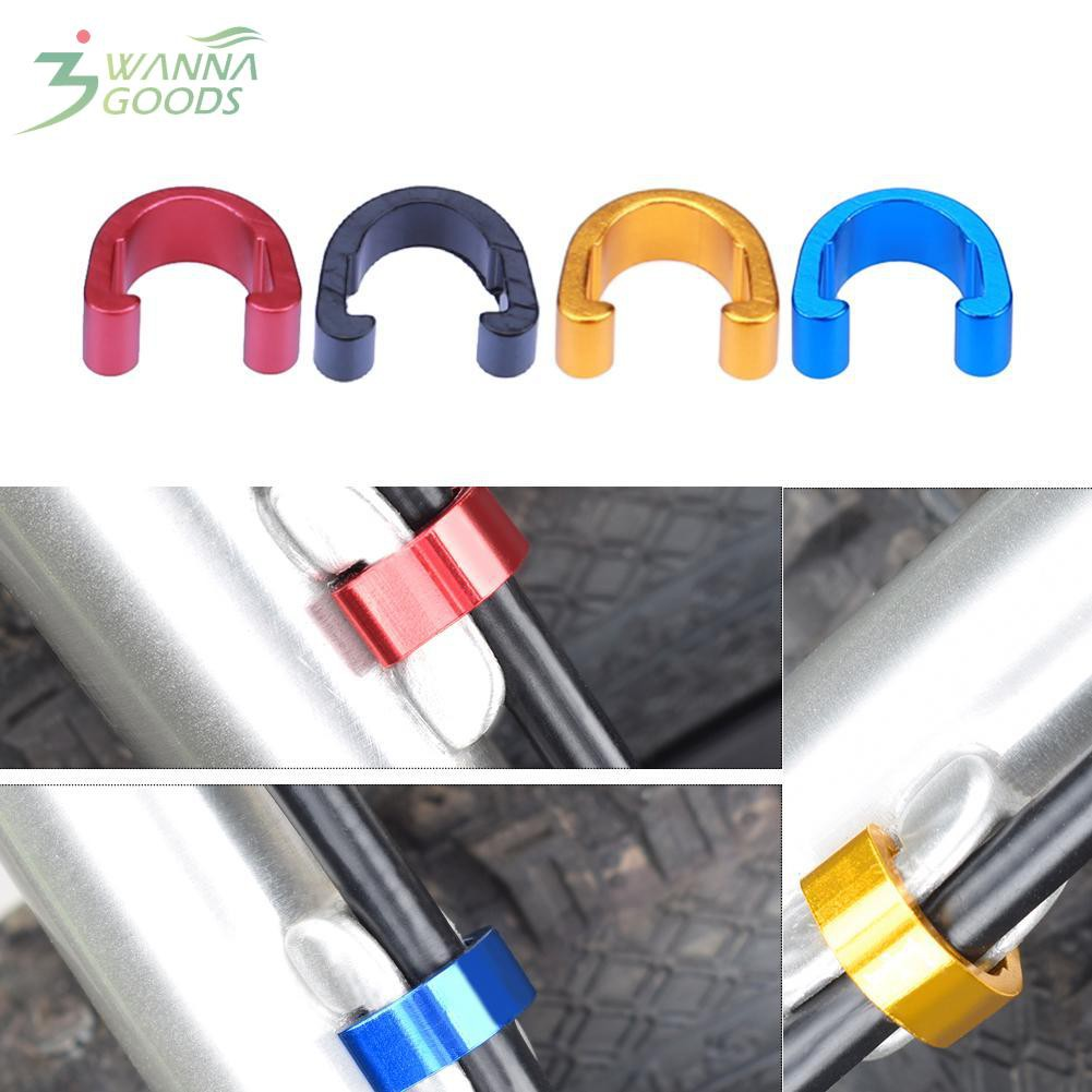 10pcs Bike Bicycle Cycle MTB C-Clips Buckle Hose Brake Gear Cable Housing Guide