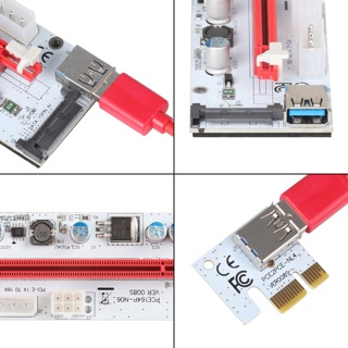 [SALE](ลด ล้าง สต็อค)PCle Riser PCI-E 1x to 16x PCI Express Riser Card for BItcoin