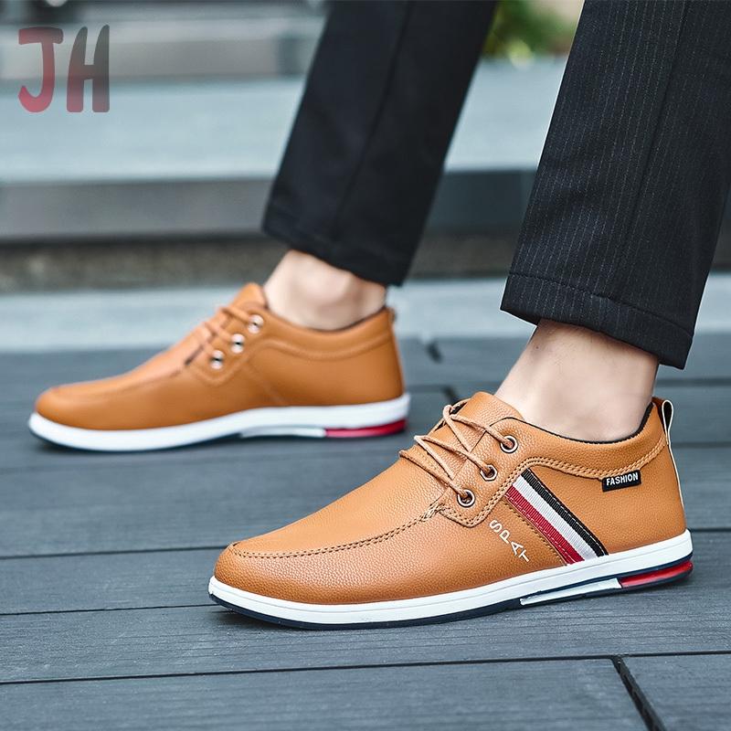 JH✨ รองเท้า รองเท้าหนังแท้ loafer รองเท้าหนังแบบผูกเชือก รองเท้าหนังแฟชั่น รองเท้าคัชชู รองเท้าโลฟเฟอร์ ผู้ชาย 05