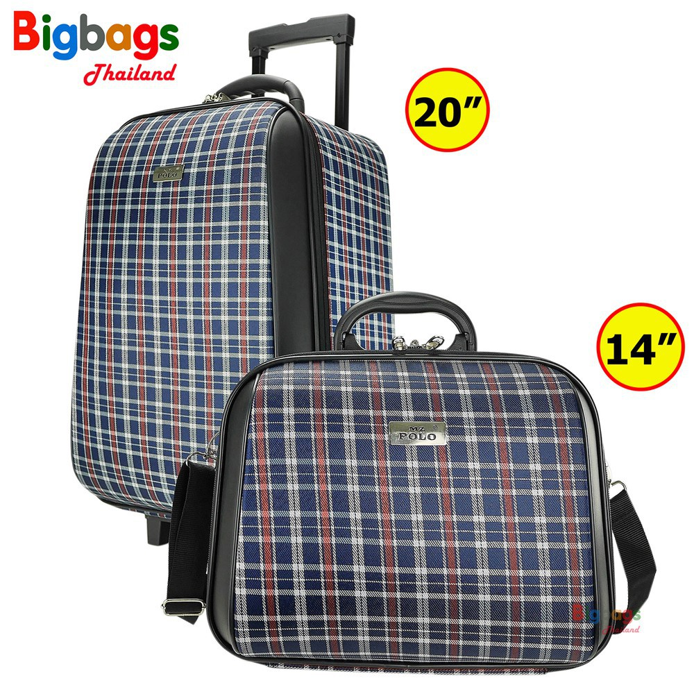 ♦☍BigBagsThailand กระเป๋าเดินทาง ล้อลาก MZ Polo เซ็ตคู่ 20 นิ้ว/14 นิ้ว Style France Paris Code FA7702 new arrival