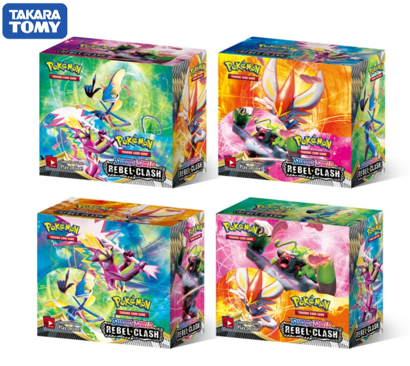 2020 New 324Pcs Box Pokemon TCG: Sword & Shield   Rebel Clash Booster Box Collectible Trading Card Game Set Pokemon Card