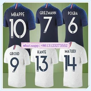 sale retailer 0a03a 1a472 New 2018 France World Cup jerseys MBAPPE POGBA KANTE DEMBELE Football  shirts 18