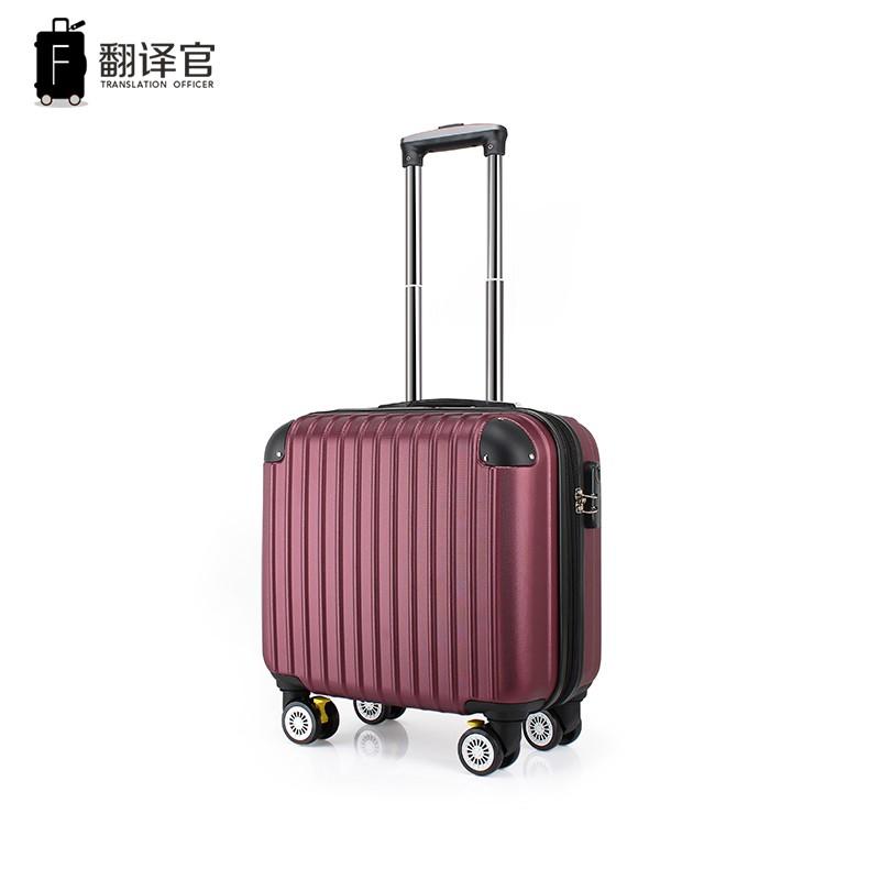 นิ้ว กระเป๋าลาก กระเป๋าเดินทางล้อคู่ แข็งแรง ยืดหยุ่นสูง น้ำหนักแปล16นิ้วทรัมเป็ตกระเป๋าเดินทางล้อชายมินิที่มีน้ำหนักเบา