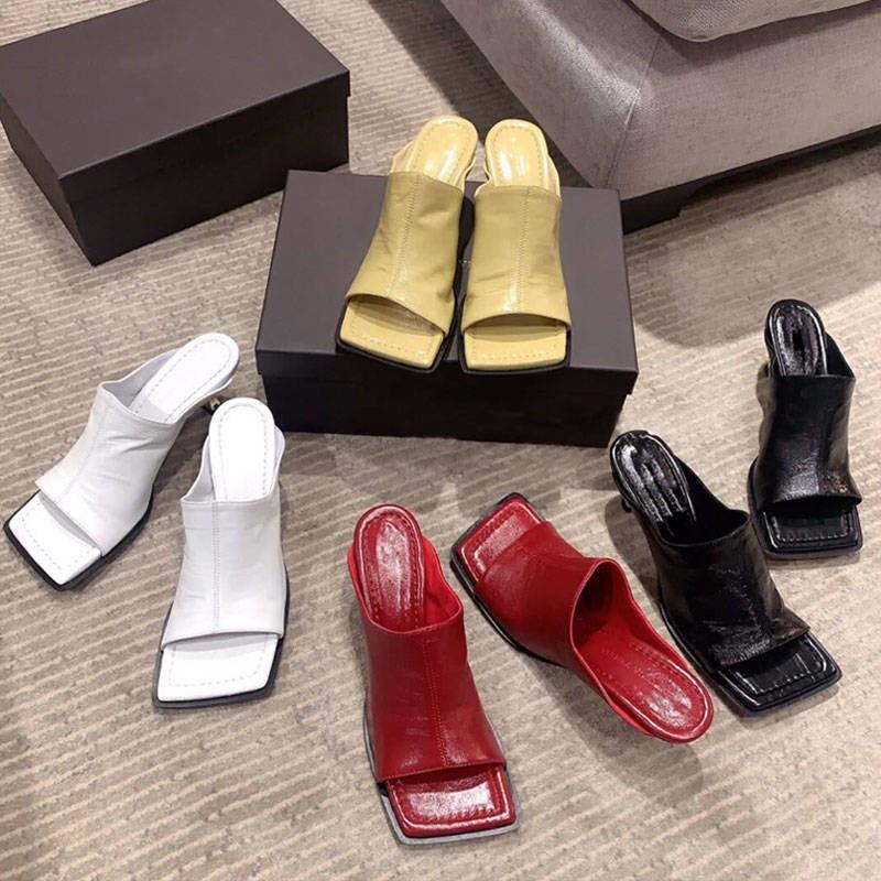 รองเท้าคัชชูเปิดส้น รองเท้าคัชชูเปิดส้นผู้หญิง 2020 Summer Sourt กำลังสองตามมาในรองเท้าแตะสีดำโรมันรองเท้าแตะสีดำรองเท้า