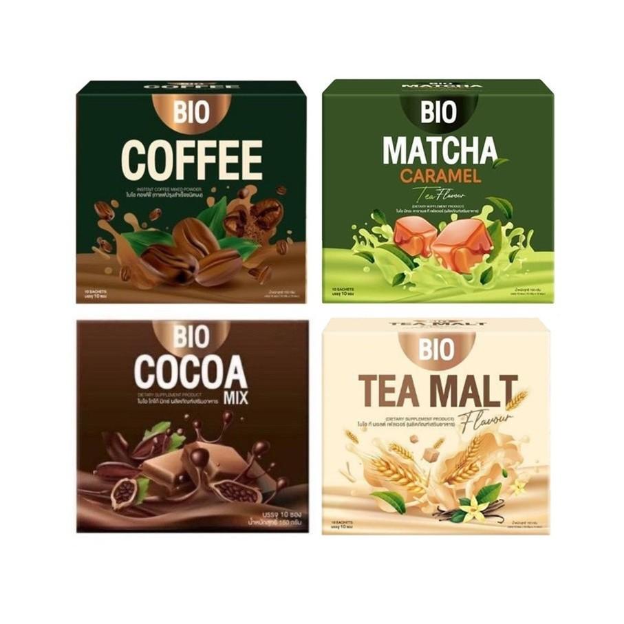 Bio Cocoa โกโก้/ชามอลต์/กาแฟ/ชาเขียว