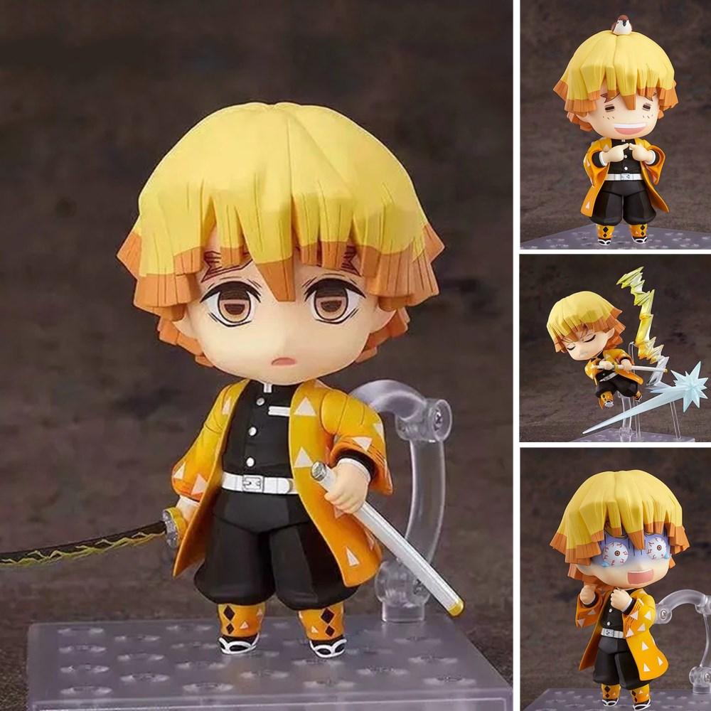 Please COD Kimetsu no Yaiba Agatsuma Zenitsu #1334 Action Figure Model Toy 100mm Anime Demon Slayer Zenitsu Figurine Cut