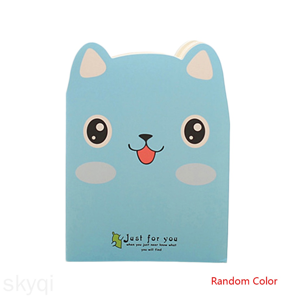 Cartoon Animals Carrying Notes Small Books Daily Notebook Mini Notepad Students Diary Book Random Color skyqi