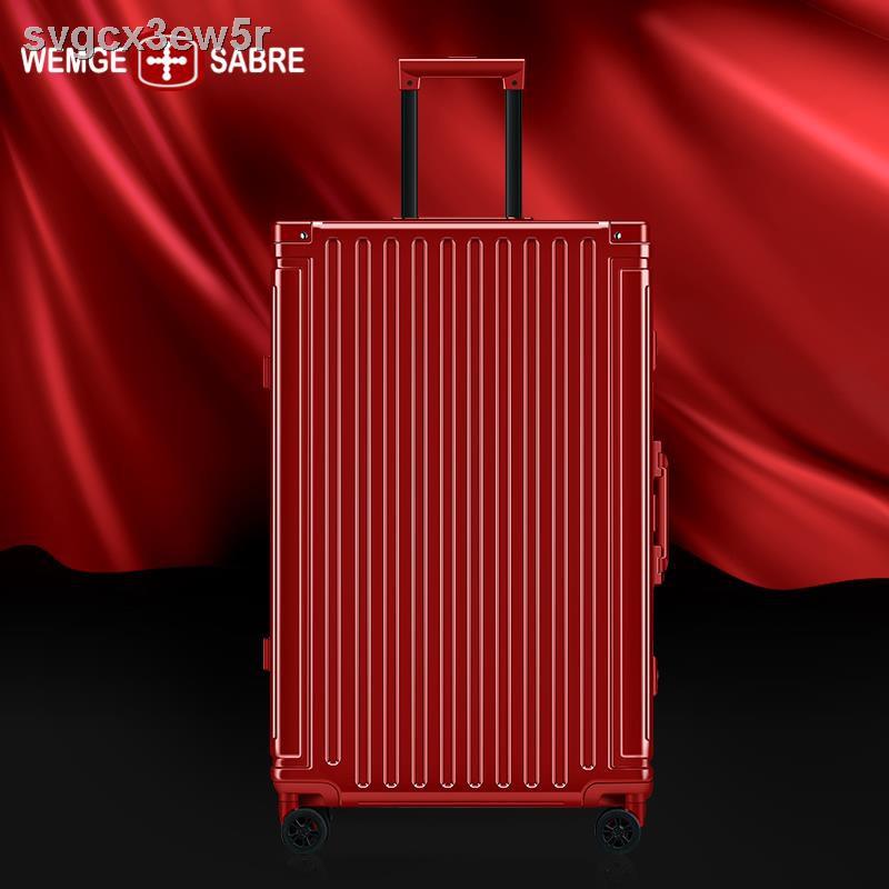 สัมภาระ▤กระเป๋าเดินทางโครงอลูมิเนียมแข็งแรงทนทาน กระเป๋าเดินทางล้อลาก กระเป๋าเดินทาง 24 ใบ กระเป๋าเดินทางขนาดเล็ก 20 นิ้