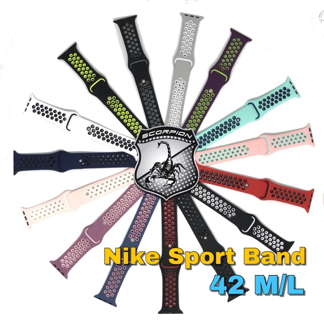 🔥พร้อมส่ง🔥 สาย Apple Watch 42ML Nike Sport Band for Apple Watch Series 1,2,3,4,5