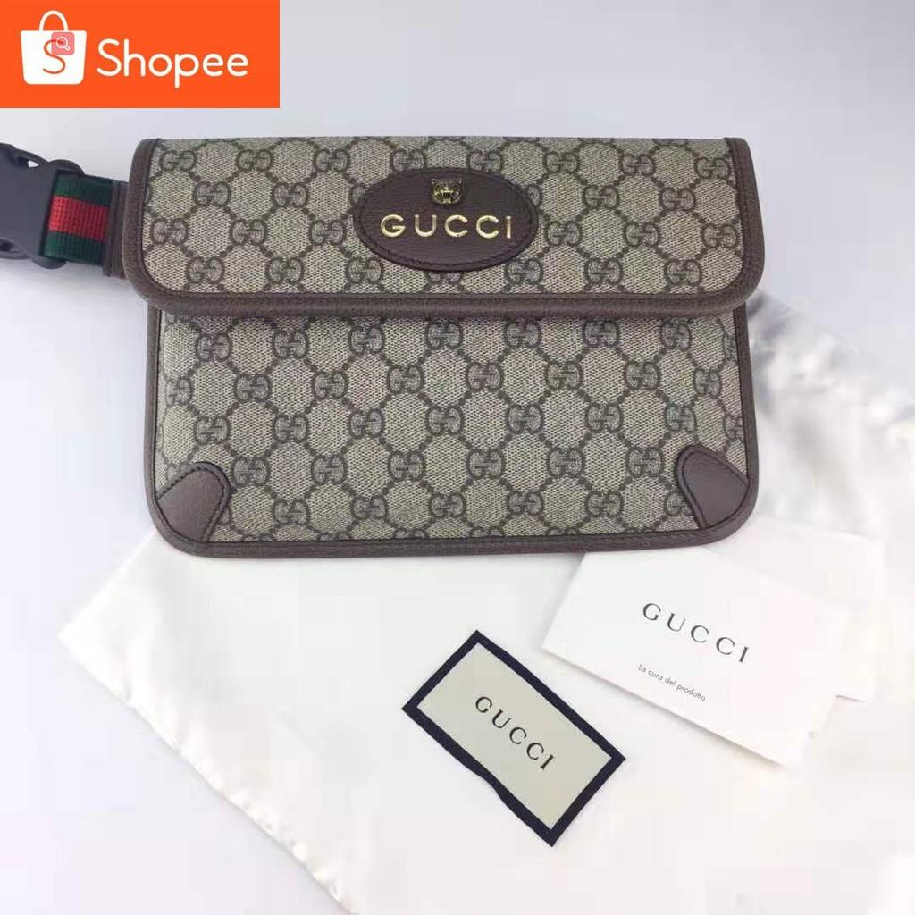 Gucci GG Supreme Belt Bag กระเป๋าสะพาย แบรนด์กุชชี่ ลายหน้าเสือ