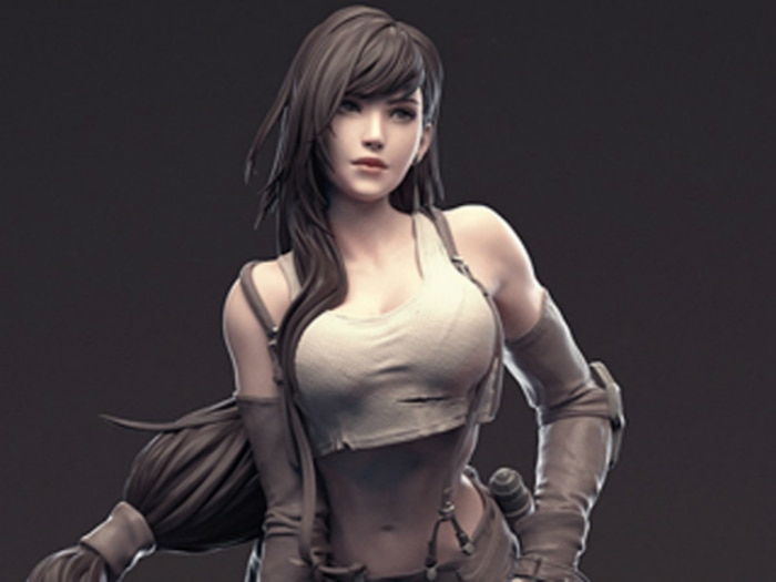 Garage Kit 1/6 FFVII Final Fantasy VII Di Fa Tifa FF7 Resin Figure Kit
