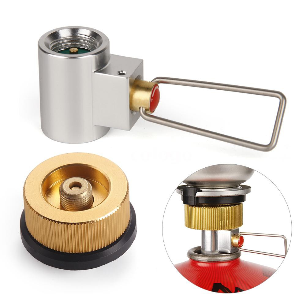 1pc gas refill adapter outdoor camping stove gas cylinder burner accessories XJ