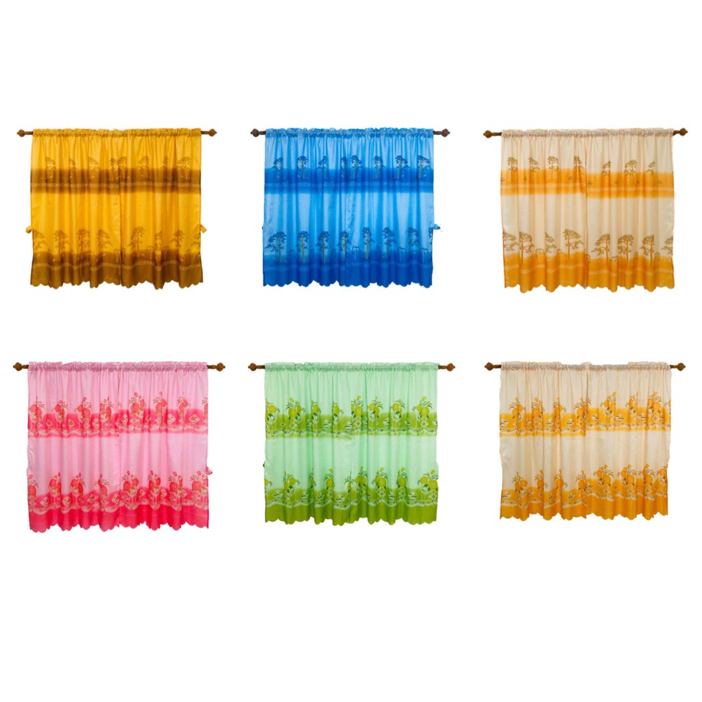 (มี 10 ลาย) ผ้าม่าน ผ้าม่านสำเร็จรูป ผ้าม่าน้อยท่อ ผ้าม่านแป๊ป ผ้าม่านหน้าต่าง