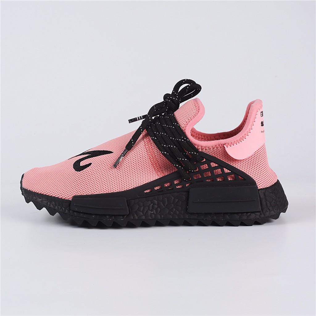 Original Adidas Human Race NMD Boost Pharrell Williams Pink White Running Shoes