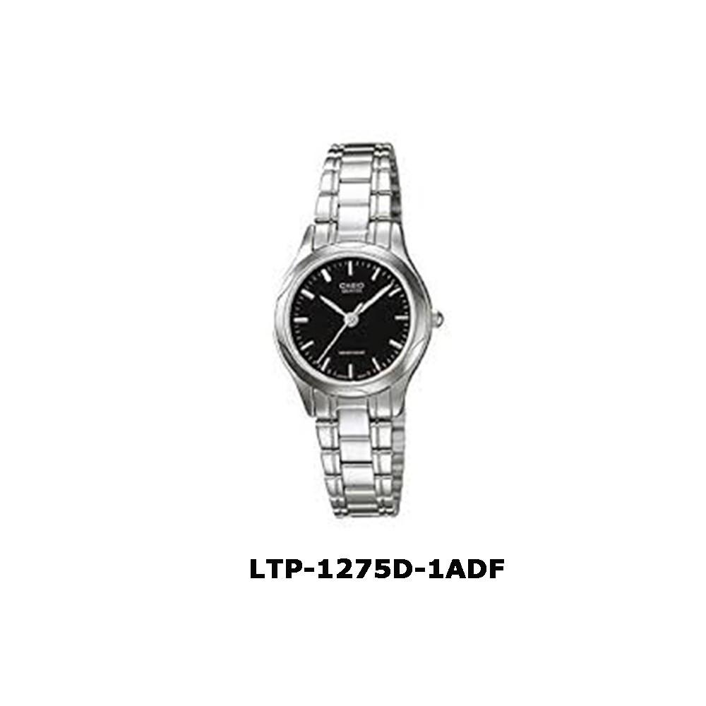 CASIO ของแท้% นาฬิกาผู้หญิง สายสแตนเลส LTP-1275D-1ADF พร้อมกล่องและใบประกันนาฬิกา casio ผู้หญิงนาฬิกา casio ชาย