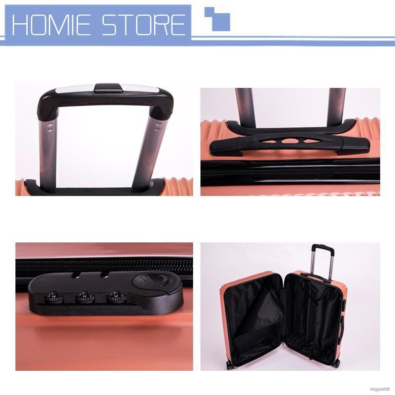 ♛☽กระเป๋าเดินทาง ขนาด24 นิ้ว กระเป๋าลาก กระเป๋าเดินทางล้อคู่ แข็งแรง ยืดหยุ่นสูง น้ำหนักเบา กระเป๋าเดินทางกันน้ำ ทนทาน