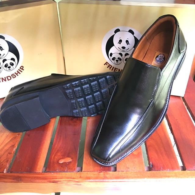 **ซื้อ 1 คู่แถม 1 คู่**รองเท้าหนังแท้Friendship shoes รุ่น 3853-6053 รองเท้าคัชชูทำงานสีดำ หนังแท้ ทนทาน