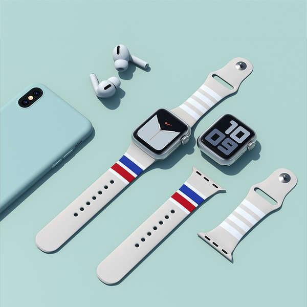 สาย applewatch เหมาะสำหรับสาย Applewatch Apple watch Thom borwne บุคลิกภาพน้ำแบรนด์การออกแบบสายรัด 6/5/4 รุ่น iwatch1 /