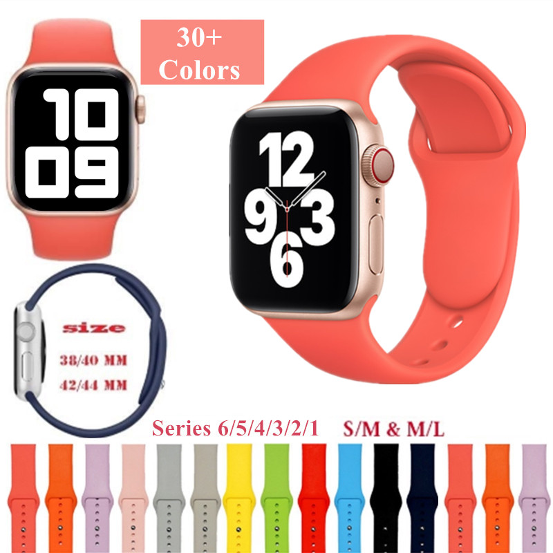สร้อยข้อมือสายนาฬิกาสำหรับ Apple Watch 6 5 4 3 2 1 Se Sports Band สำหรับ 38mm 42mm 40mm 44mm Series Series Series สี 13-24 Iwatch38mm Applewatchmilaneseloopstrap Applewatch Applewatchseries5