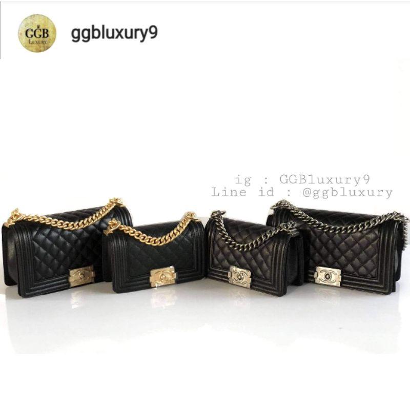 Chanel Boy8 /10 black caviar GHW/RHW  full set price : 189,999฿/210000฿