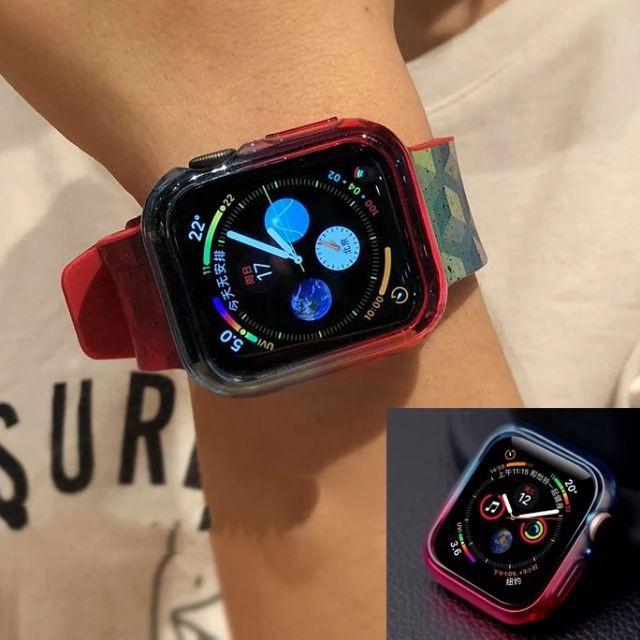 เคส applewatch เคสใสแบบนิ่มสองสีของ Apple Watch ใช้ได้กับ Series 4 5