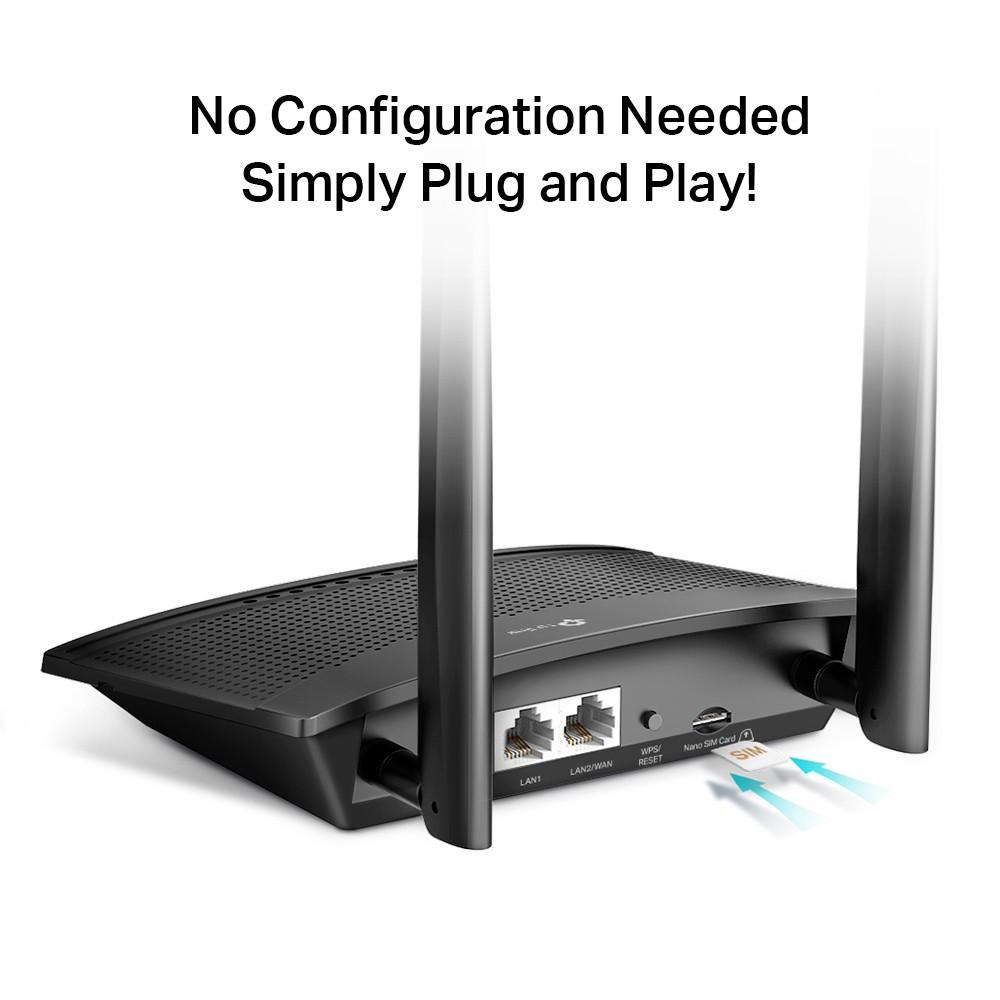 รับ 10% Coins โค้ด SPCCB6KY1W   TP-LINK TL-MR100 300 Mbps Wireless N 4G LTE Router