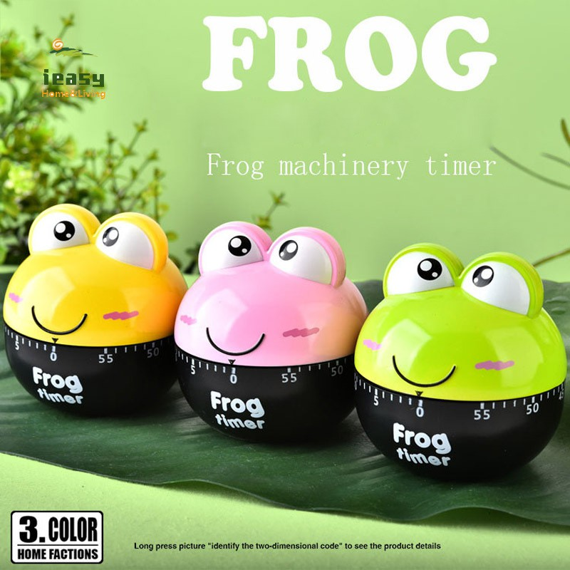 Lovely 55 Minute Animal Timer Easy Operate Kitchen Useful Cooking Cute Frog  Shape for Kitchen Timer