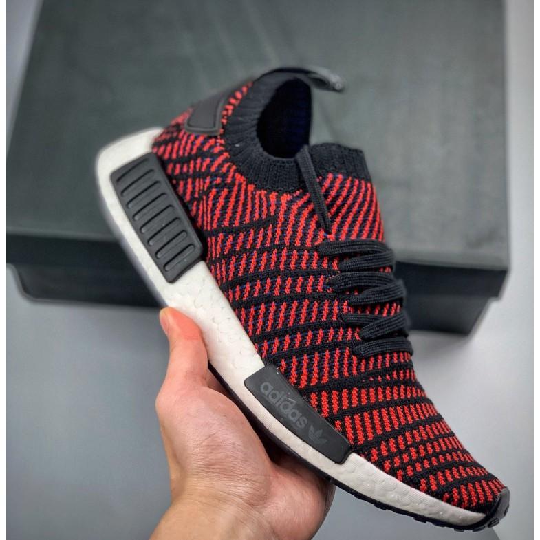 Adidas Nmd R 1 Pk Primeknit รองเท้าวิ่งสีขาวสีแดง Ba 7253