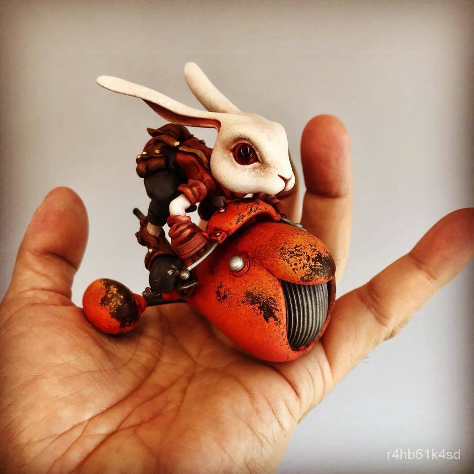 Resin Figure Kit WF2018 Rabbit with Moto Unainted Garage Resin Model Kit#¥%¥# jrrJ