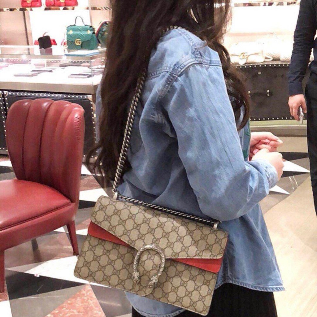 Gucci Classic Snakehead Bacchus Bag Medium Dionysus Gucci Shoulder Crossbody Bag Leather Chain Bag S